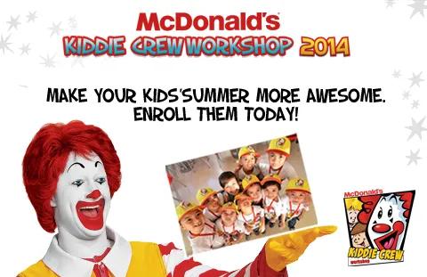 McDonald's Kiddie Crew Workshop 2014
