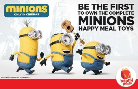 Pre-order your Minions Happy Meal Toys