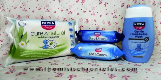 Nivea Baby wipes and baby wash