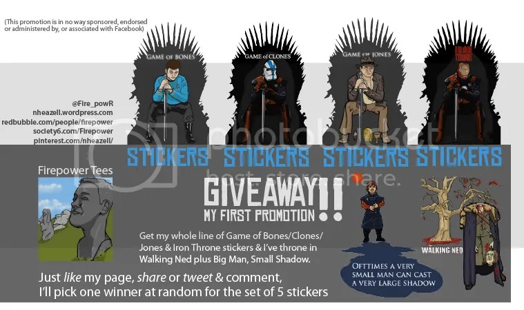 Facebook Game Of Thrones Sticker give-away promotion