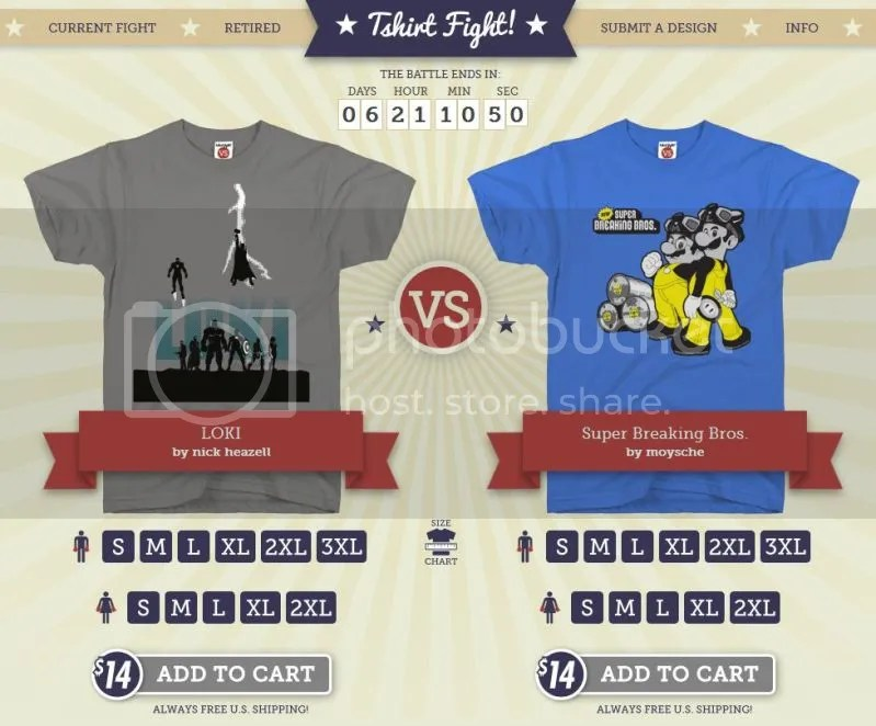 Round two - Tshirtfight.com