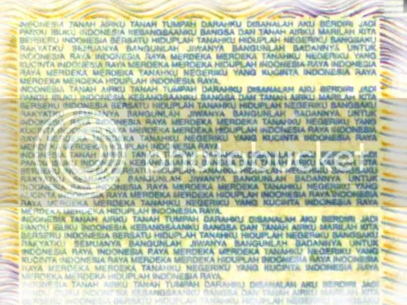 50ribu2 blur Ternyata di Uang 50ribu Rupiah Lama Ada Teks Lagu  Kebangsaan
