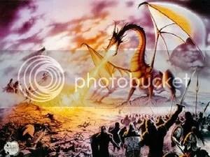 Naga menyembur api