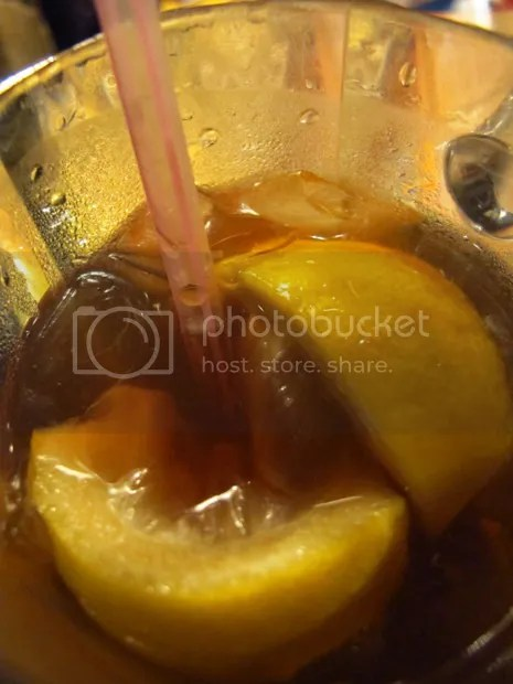 iced lemon tea chilis