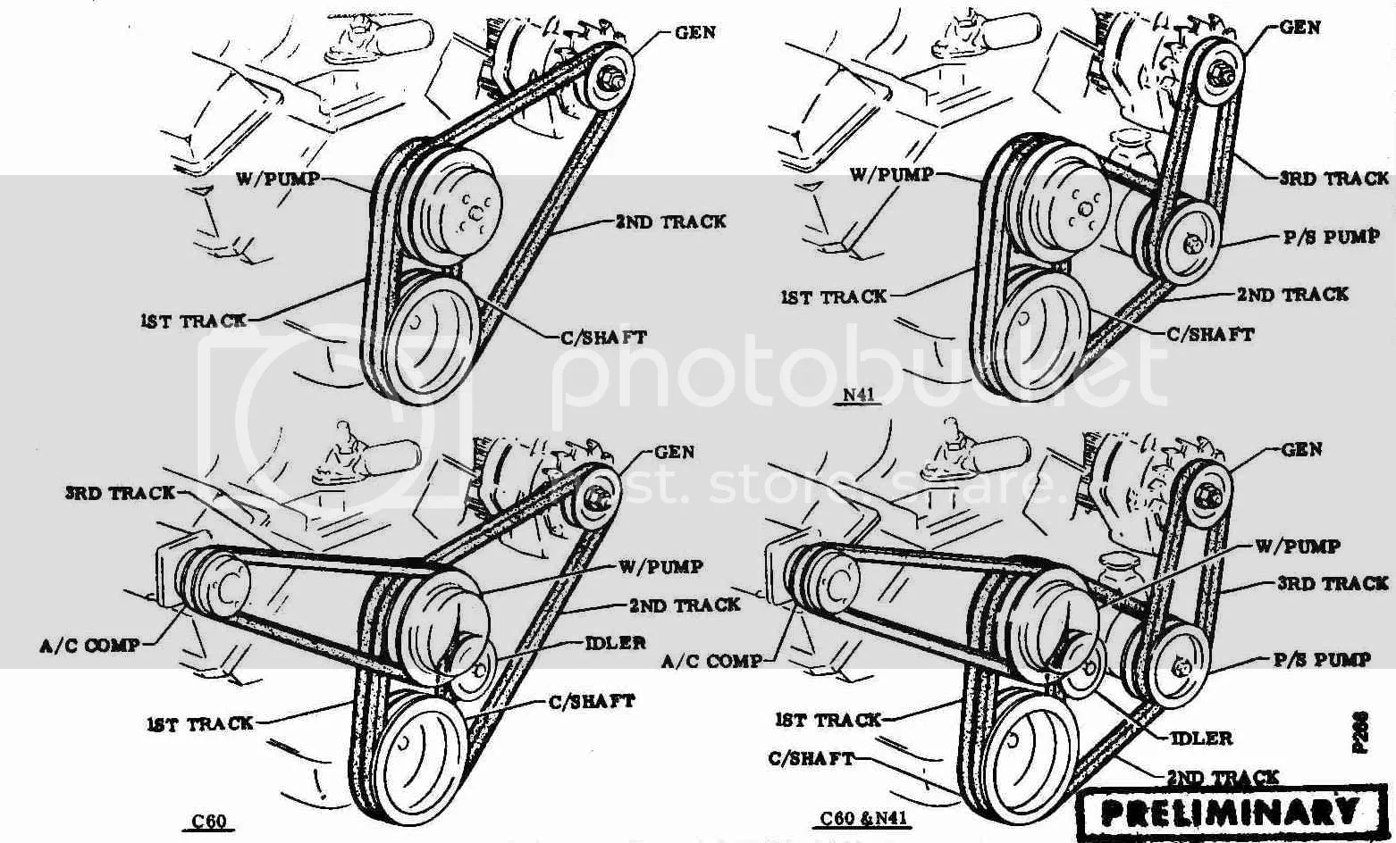 Chevy 454 Engine Belt Diagram