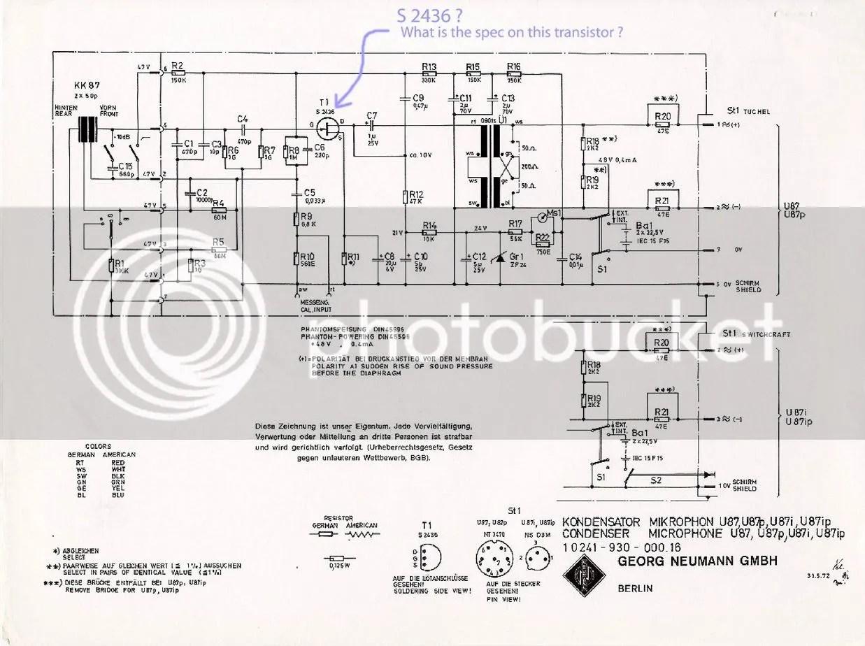 U87 Transistor Inquiry