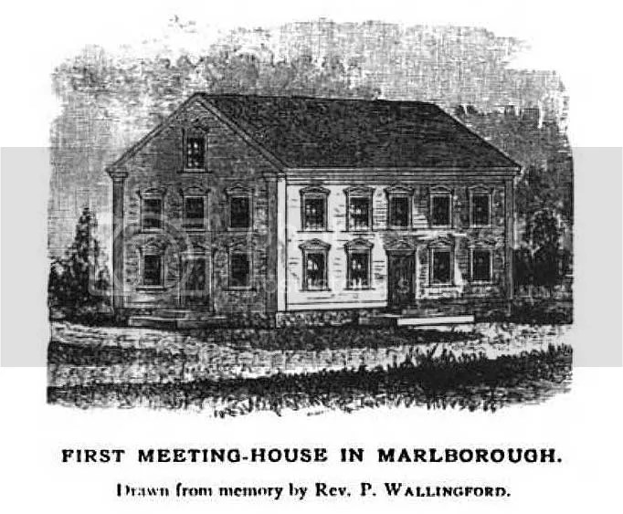 The First Meetinghouse in Marlborough, N.H.