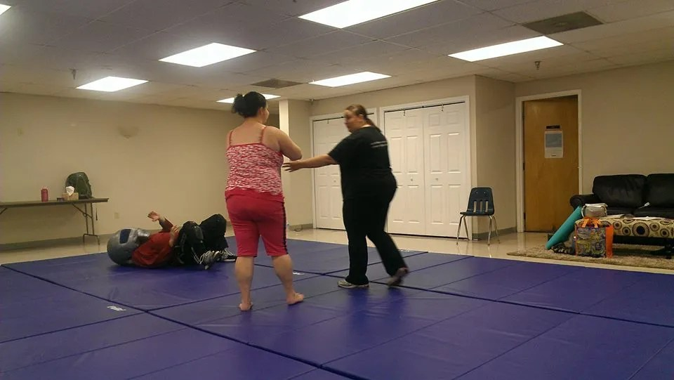 woman doing self-defense