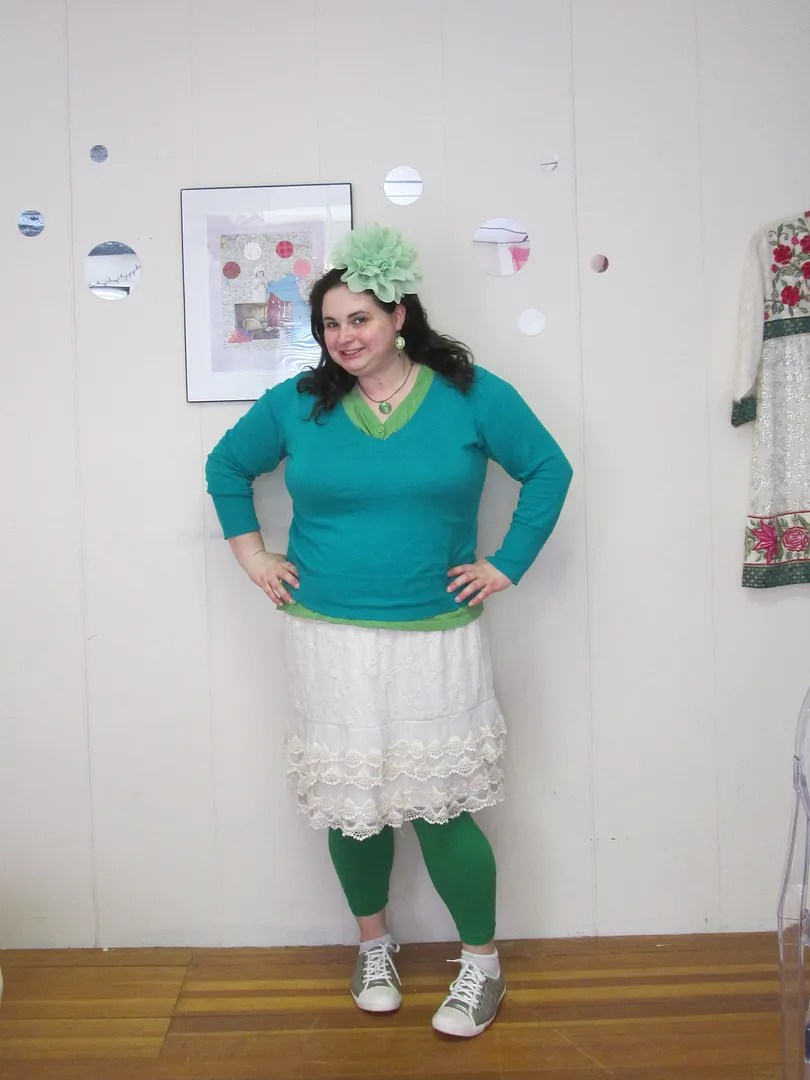 plus size outfit green st. patrick's day