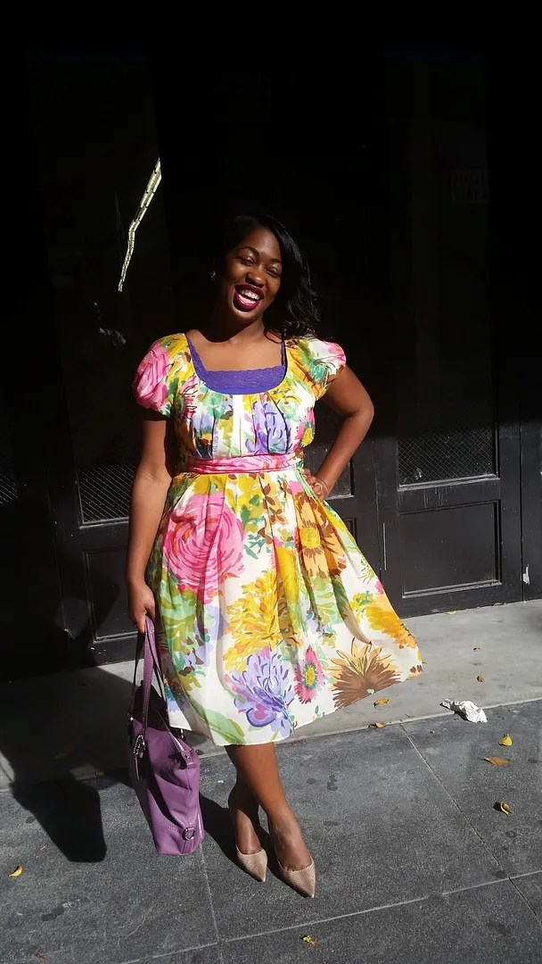 plus size outfit amazing spring-y floral dress