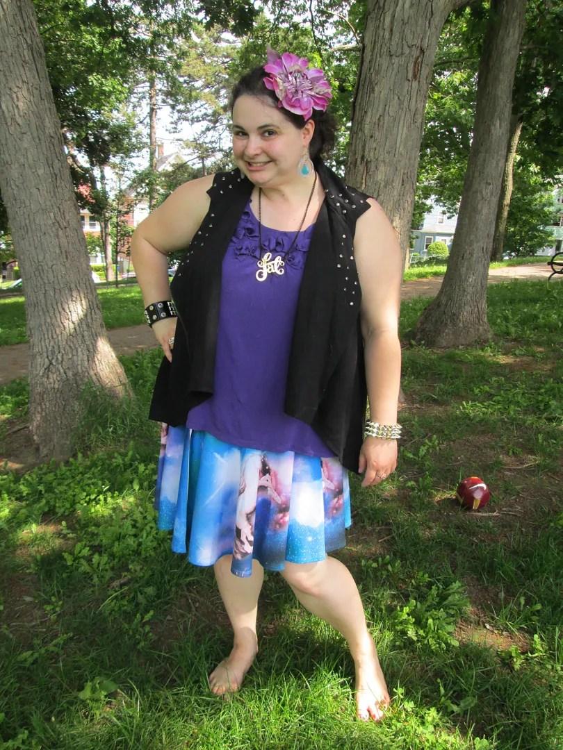 plus size unicorn punk outfit