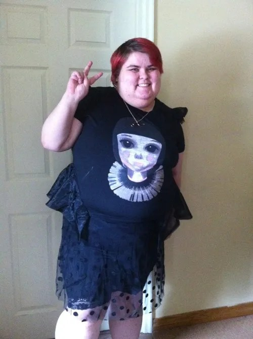 plus size all-black goth kawaii outfit