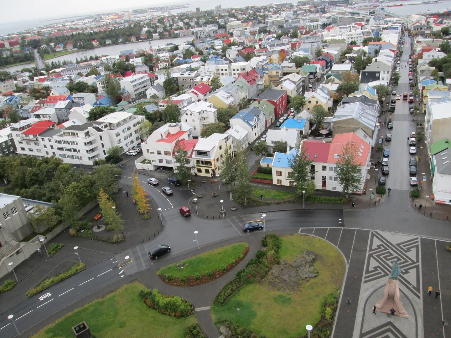 view of reykjavik from tower