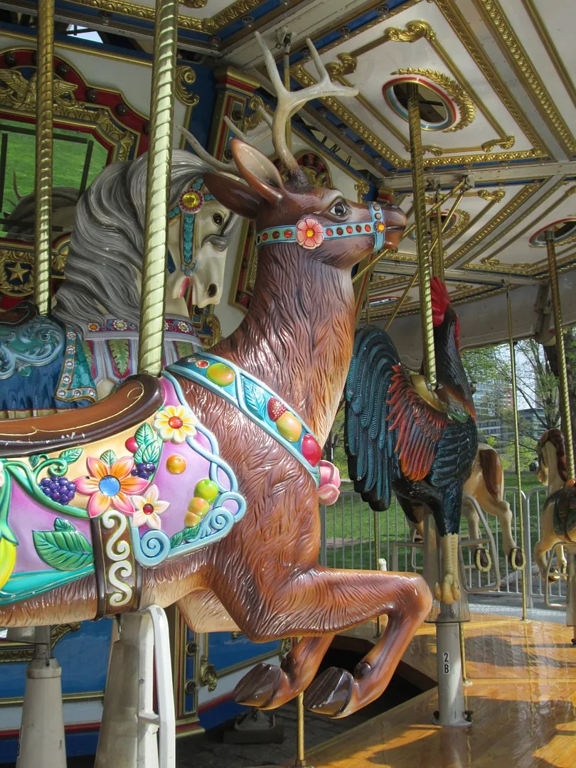 carousel horse and reindeer