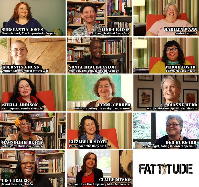 contributors to Fattitude: A Body-Positive Documentary