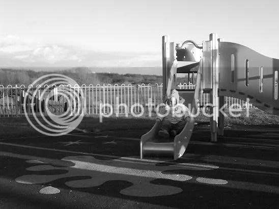 Erin on slide