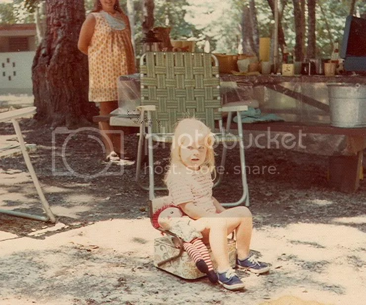 The Typist at age 3, at an unidentified Virginia State Park campground