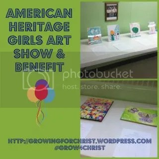 art show,American Heritage Girls,benefit,Explorer Level Award
