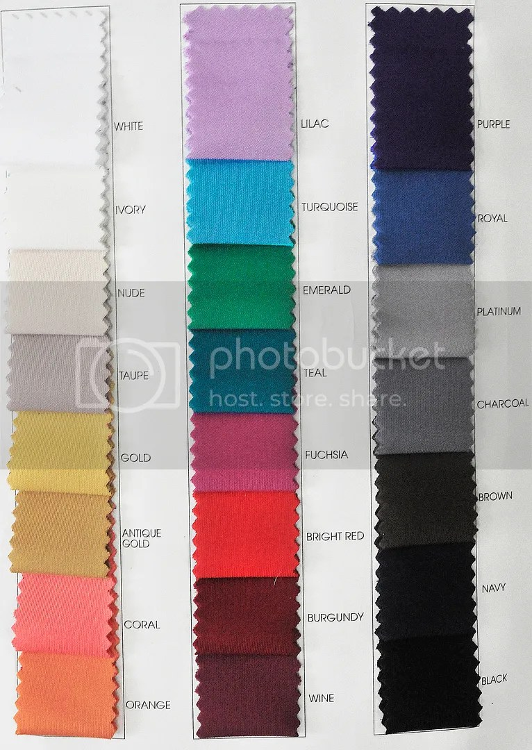 Yard Fabric Color Chart Neoprene