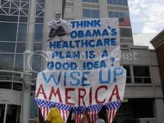 Somebody isnt impressed with Obamas healthcare ideas.
