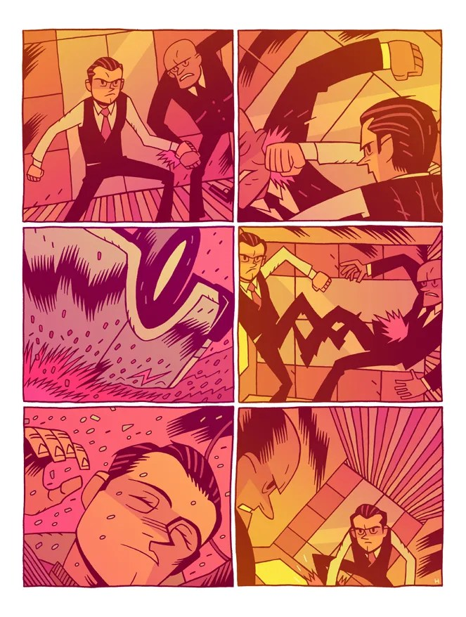 Escena de Inception, por Dan Hipp