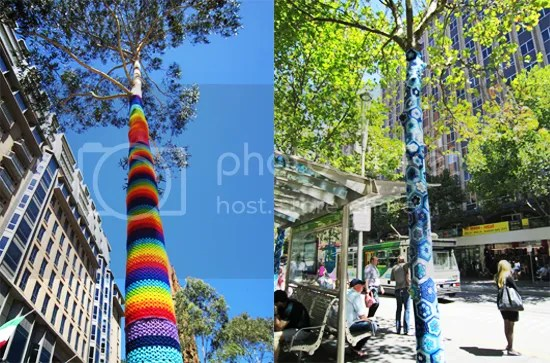 Crochet street art, Melbourne