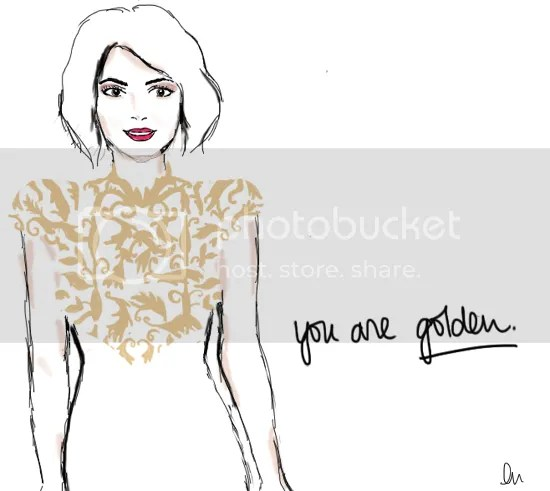 Michelle Dockery, Golden Globes, tablet drawing