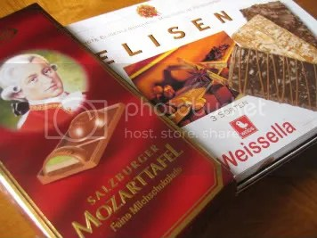 German chocolates & ginger bread