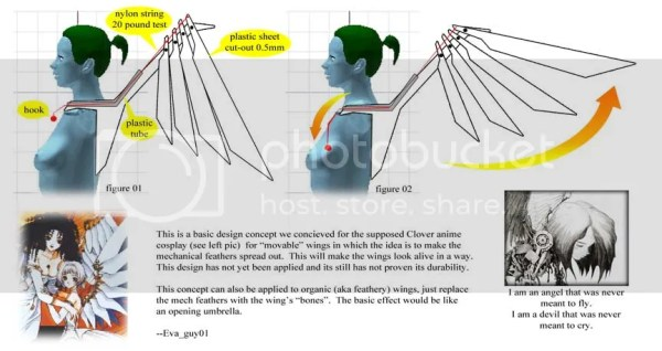 how to make movable wings