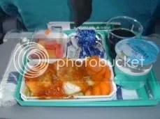 Airplane Food - Fish And Pasta.