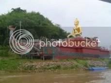 Buddha On Dragon Boat.