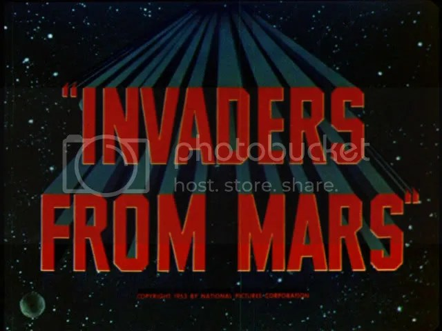 1953's Invaders From Mars, directed by William Cameron Menzies