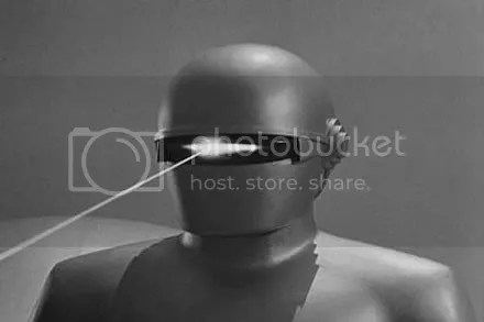 Gort does an impression of Cyclops from the X-Men