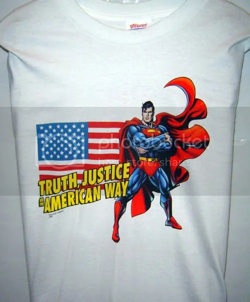 Truth, Justice and the American t-shirt!