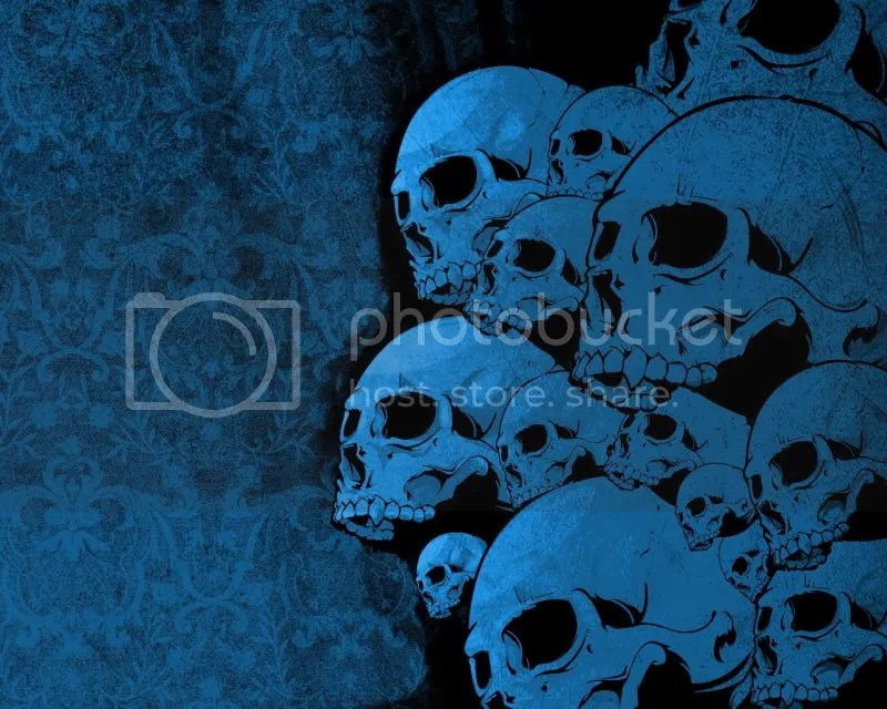 BLUE VECTOR SKULL FLIC FROM THE NET