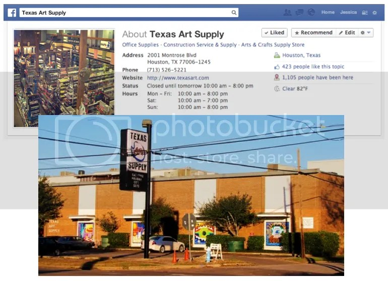 Image: Texas Art Supply - Montrose - Houston