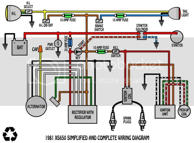 Xs650 Simple Wiring Harness - Wiring Diagrams Basic on