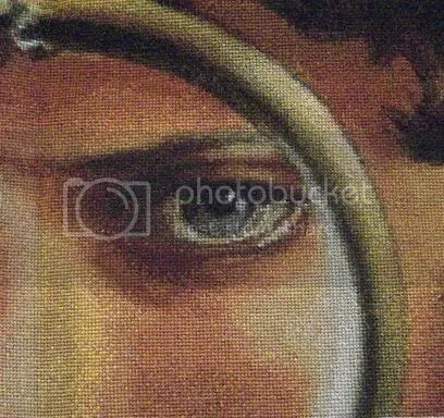 Burden, close up of the eye, amazing detail, from haed