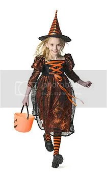 Little witch out 'trick or treating'