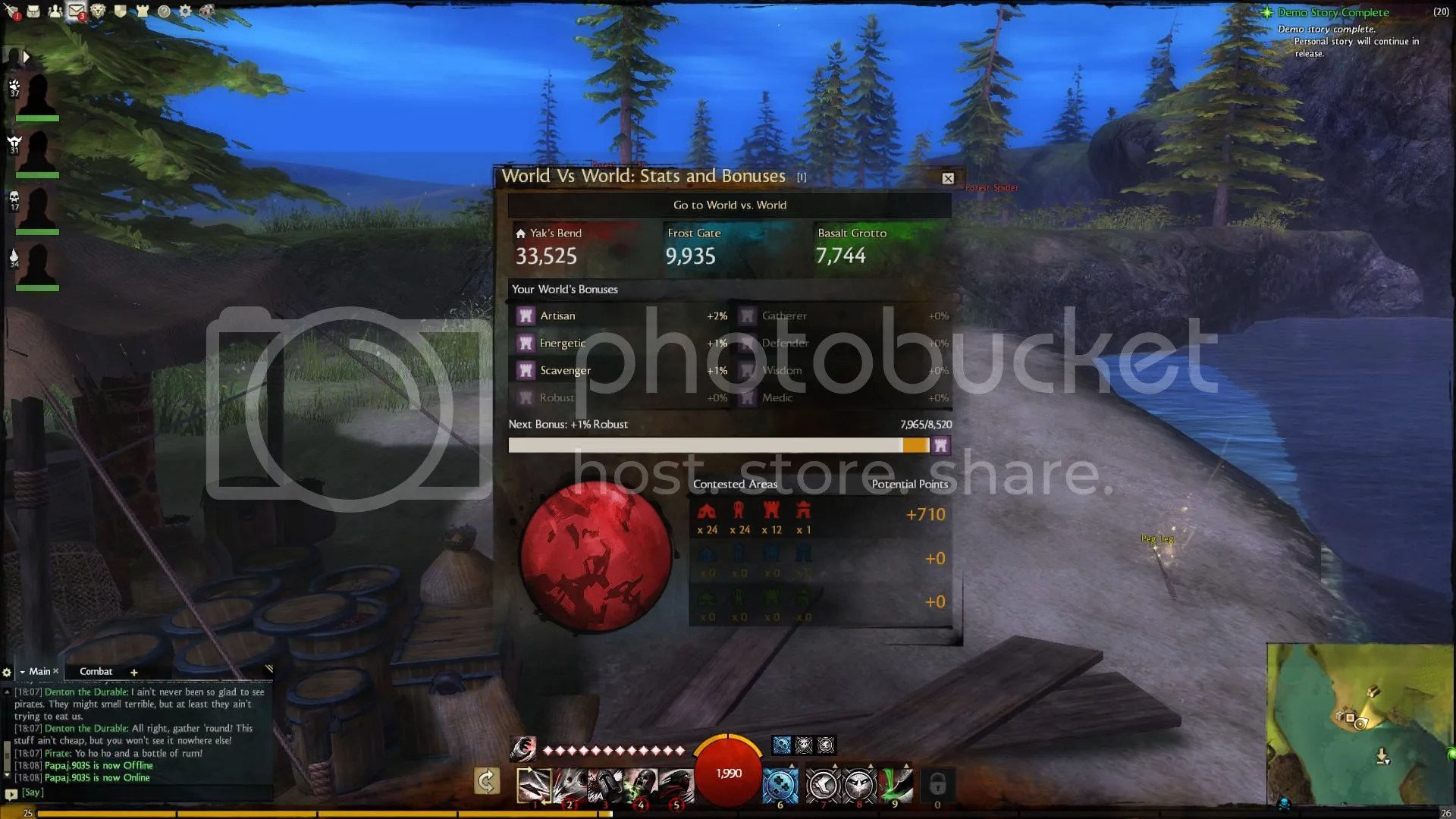 Guild Wars 2 World Vs World Status