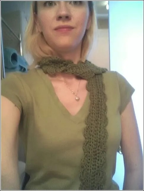 One Skein Scarf in Patons merino