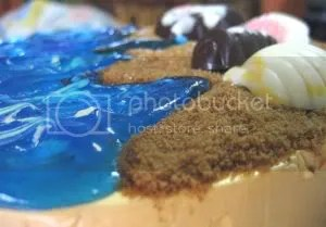 brown sugar sand, piping gel sea