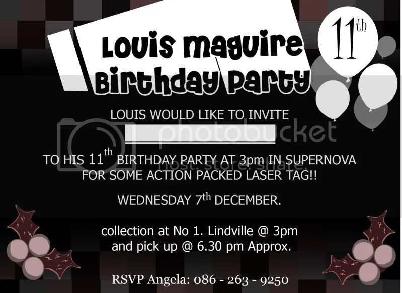 Louis Birthday invatation