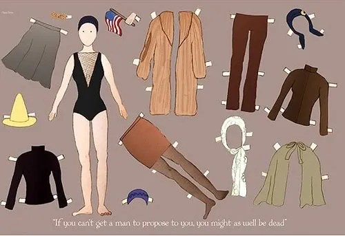 Little Edie Paper Doll
