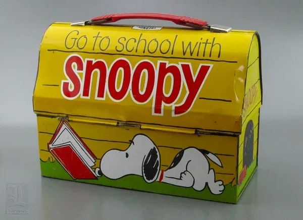 Vintage School Lunchbox, Lunchbox, Lunch Bucket