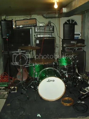 Howd you guys fit a drumset in all this mess?