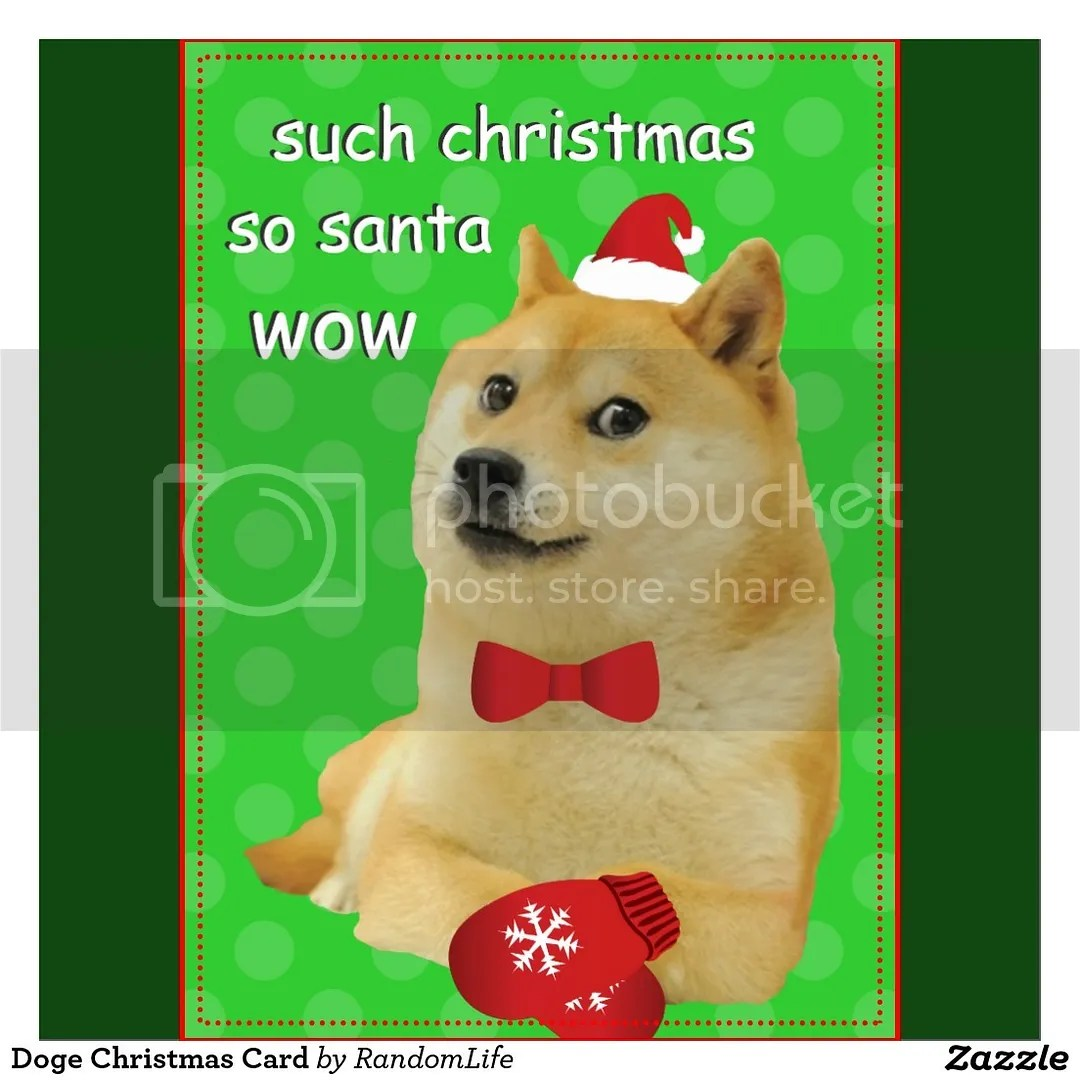 doge christmas card from zazzle such christmas so santa wow - Christmas Doge