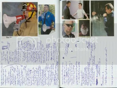 Notes on a lecture by Linda Norren on Ed Ruscha; crazy clippings from a Security Guard stuff catalog.