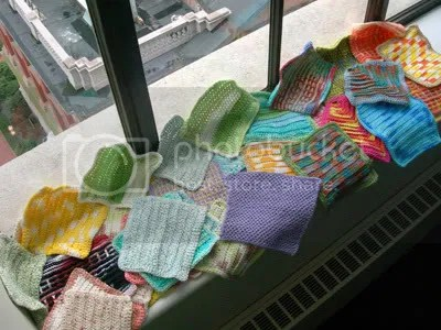 Lovely washcloths on the lovely window sill.