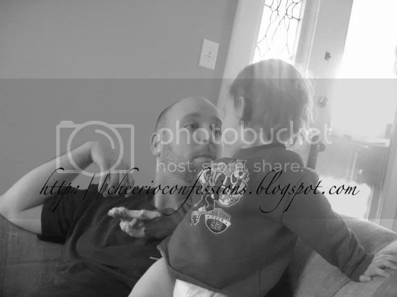 Sitting on Daddy's shoulder